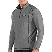 Antigua Men's Philadelphia Eagles Tempo Grey Quarter-Zip Pullover