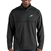 Antigua Men's Philadelphia Eagles Prodigy Quarter-Zip Black Pullover