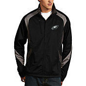Antigua Men's Philadelphia Eagles Tempest Black Full-Zip Jacket