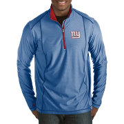 Antigua Men's New York Giants Tempo Royal Quarter-Zip Pullover