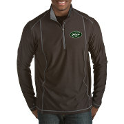 Antigua Men's New York Jets Tempo Black Quarter-Zip Pullover