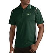 Antigua Men's New York Jets Merit Green Xtra-Lite Polo