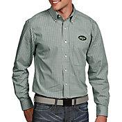 Antigua Men's New York Jets Associate Button Down Dress Shirt