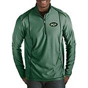 Antigua Men's New York Jets Tempo Green Quarter-Zip Pullover