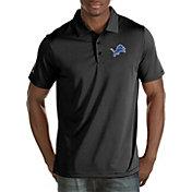 Antigua Men's Detroit Lions Quest Black Polo