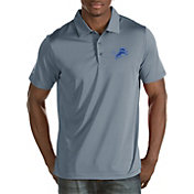 Antigua Men's Detroit Lions Quest Grey Polo