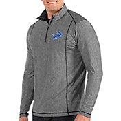 Antigua Men's Detroit Lions Tempo Grey Quarter-Zip Pullover