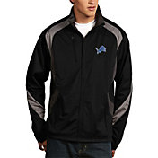 Antigua Men's Detroit Lions Tempest Black Full-Zip Jacket
