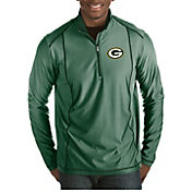 Antigua Men's Green Bay Packers Tempo Green Quarter-Zip Pullover