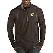 Antigua Men's Green Bay Packers Quick Snap Logo Tempo Black Quarter-Zip Pullover