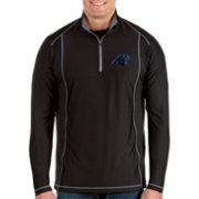 Antigua Men's Carolina Panthers Tempo Black Quarter-Zip Pullover