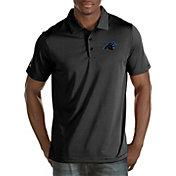 Antigua Men's Carolina Panthers Quest Black Polo