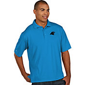 Antigua Men's Carolina Panthers Pique Xtra-Lite Blue Polo
