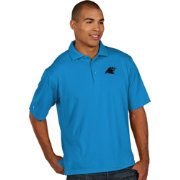Antigua Men's Carolina Panthers Pique Xtra-Lite Blue Polo