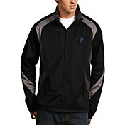 Antigua Men's Carolina Panthers Tempest Black Full-Zip Jacket