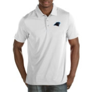 Antigua Men's Carolina Panthers Quest White Polo