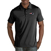 Antigua Men's New England Patriots Quest Black Polo