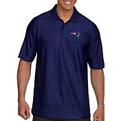 Antigua Men's New England Patriots Illusion Navy Xtra-Lite Polo