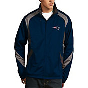 Antigua Men's New England Patriots Tempest Navy Full-Zip Jacket