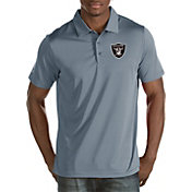 Antigua Men's Oakland Raiders Quest Grey Polo