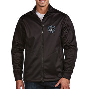 Antigua Men's Oakland Raiders Quick Snap Logo Black Golf Jacket