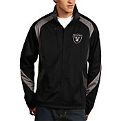 Antigua Men's Oakland Raiders Tempest Black Full-Zip Jacket