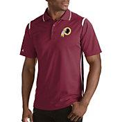 Antigua Men's Washington Redskins Merit Red Xtra-Lite Polo