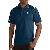 Antigua Men's Los Angeles Rams Merit Navy Xtra-Lite Polo