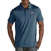 Antigua Men's Los Angeles Rams Quest Navy Polo