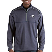 Antigua Men's Los Angeles Rams Prodigy Quarter-Zip Navy Pullover