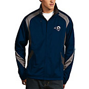 Antigua Men's Los Angeles Rams Tempest Navy Full-Zip Jacket