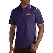 Antigua Men's Baltimore Ravens Merit Purple Xtra-Lite Polo
