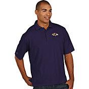 Antigua Men's Baltimore Ravens Pique Xtra-Lite Purple Polo
