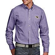 Antigua Men's Baltimore Ravens Associate Button Down Dress Shirt