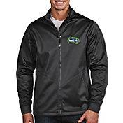 Antigua Men's Seattle Seahawks Quick Snap Logo Grey Golf Jacket