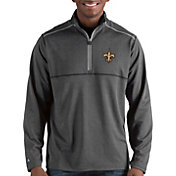 Antigua Men's New Orleans Saints Prodigy Quarter-Zip Charcoal Pullover