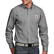 Antigua Men's Pittsburgh Steelers Associate Button Down Dress Shirt
