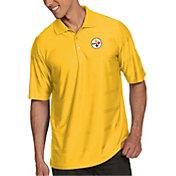Antigua Men's Pittsburgh Steelers Illusion Gold Xtra-Lite Polo