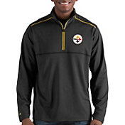 Antigua Men's Pittsburgh Steelers Prodigy Quarter-Zip Black Pullover