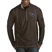 Antigua Men's Tennessee Titans Tempo Black Quarter-Zip Pullover