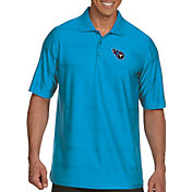 Antigua Men's Tennessee Titans Illusion Blue Xtra-Lite Polo