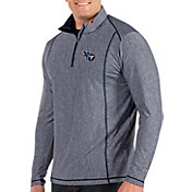 Antigua Men's Tennessee Titans Tempo Navy Quarter-Zip Pullover