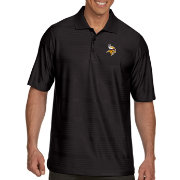Antigua Men's Minnesota Vikings Illusion Black Xtra-Lite Polo