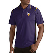 Antigua Men's Minnesota Vikings Merit Purple Xtra-Lite Polo