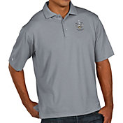 Antigua Men's 2017 NHL Stanley Cup Champions Pittsburgh Penguins Pique Xtra-Lite Grey Polo