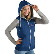 Antigua Women's Chicago Cubs Royal Blitz Full-Zip Hooded Vest