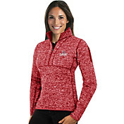 Antigua Women's Los Angeles Clippers Fortune Red Half-Zip Pullover