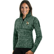 Antigua Women's Boston Celtics Fortune Kelly Green Half-Zip Pullover