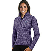 Antigua Women's Charlotte Hornets Fortune Purple Half-Zip Pullover