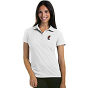 Antigua Women's Miami Heat Xtra-Lite White Pique Performance Polo